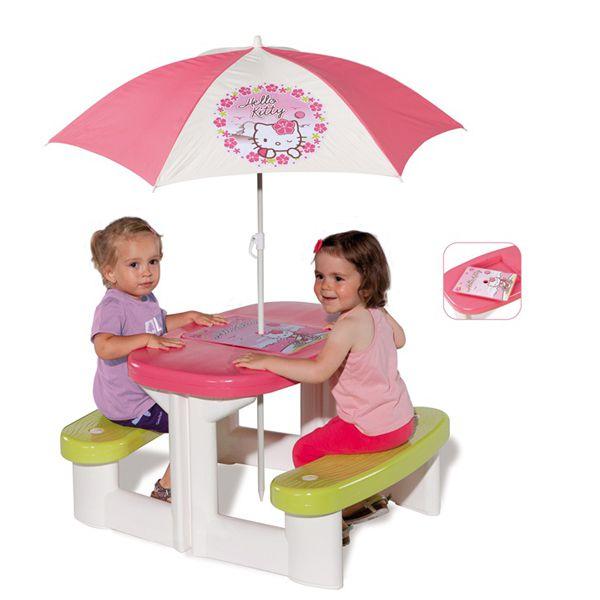 Столик для пикника с зонтиком из серии 'Неllo Kitty' 310256 Smoby