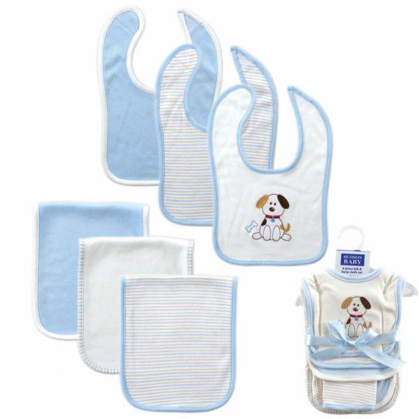 Комплект Нагрудники и салфетки для кормления 'Щенок' 50330 Hudson Baby