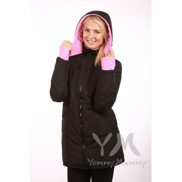 Универсальная куртка зимняя 3 в 1 черный/розовый 801.2.6 Y@mmyMammy