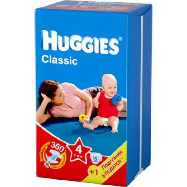 Хаггис подгузники Классик Small Pack 4 M (7-18 кг) 14-15 шт. 9401041 Huggies