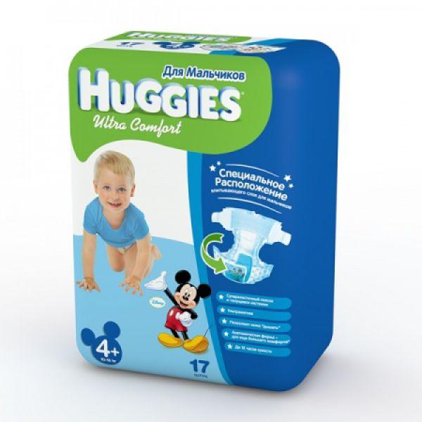Хаггис подгузники  Ультра Комфорт для мальчиков 4+ (10-16кг) 17шт 9403411 Huggies