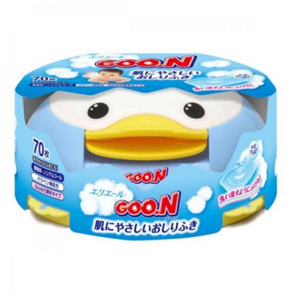 GOO.N Салфетки влажные для младенцев в пласт. кор. (70 шт) 733161 GooN