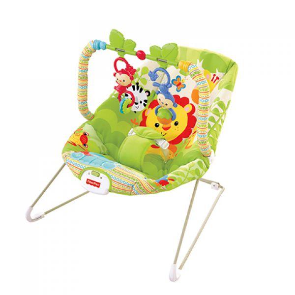 Кресло-качалка BCG47  Веселые обезьянки из тропического леса Fisher-Price Фишер Прайс 1130971 Fisher Price (MATTEL)