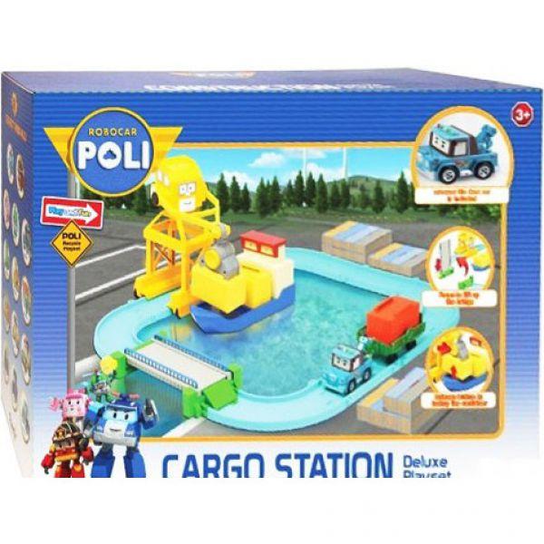 Порт (металлическая фигурка Терри 12см в комплекте) с разводным мостом 83083 Robocar POLI
