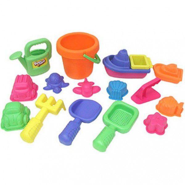 Набор : 16 игрушек для песочницы в сетке 30312 KEENWAY