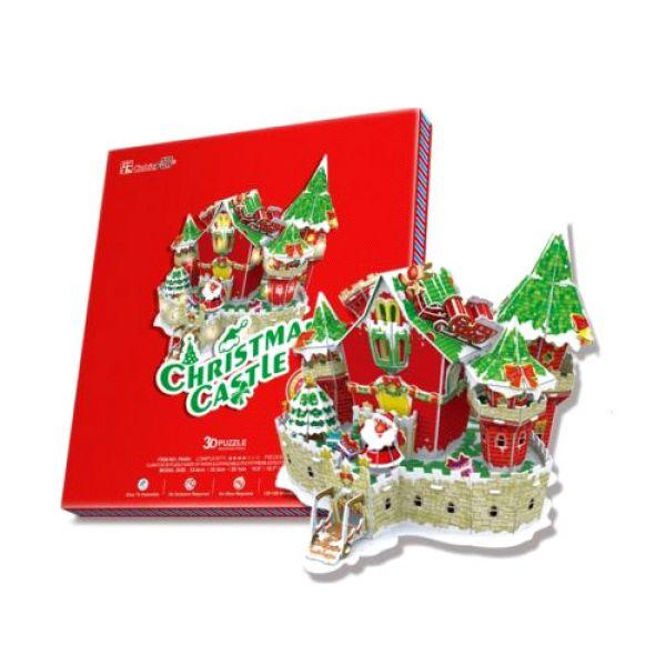 Сказочный рождественский замок ( с подсветкой ) P646h CubicFun