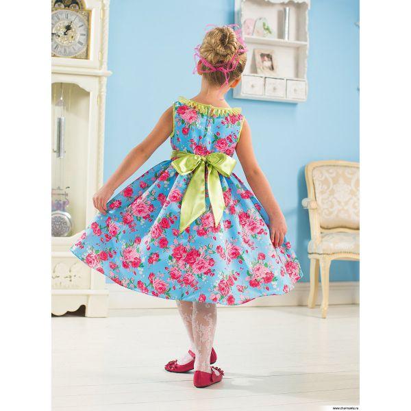 Платье для девочек PSA011402 - голубой Perlitta