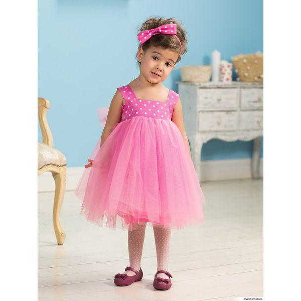 Платье для девочек PSAO031401 - розовый Perlitta