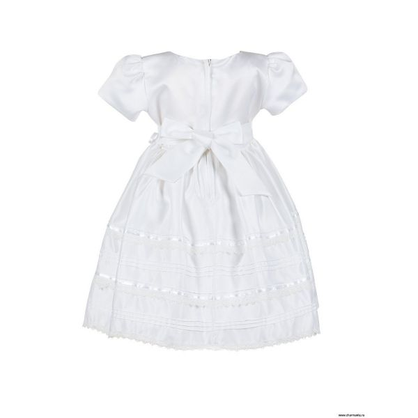 Платье праздничное для девочек PSA031402 - белый Perlitta