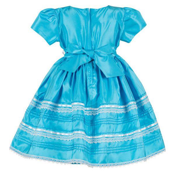 Платье праздничное для девочек PSA031402 - голубой Perlitta