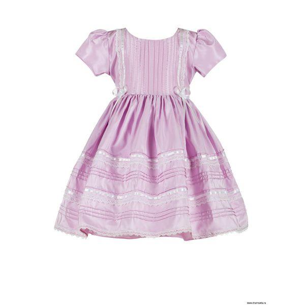 Платье праздничное для девочек PSA031402 - розовый Perlitta