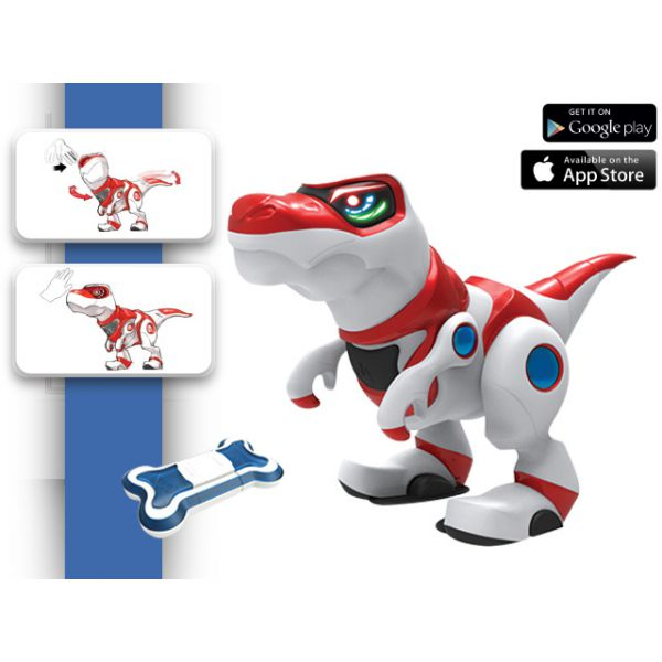 Динозавр 36903 TEKSTA - TREX интерактивный, с аксессуарами, на батарейках, в коробке 1132148 Manley Toys
