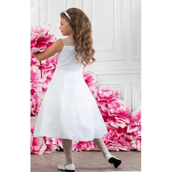 Платье праздничное для девочек+болеро PSAK061408 - белый Perlitta