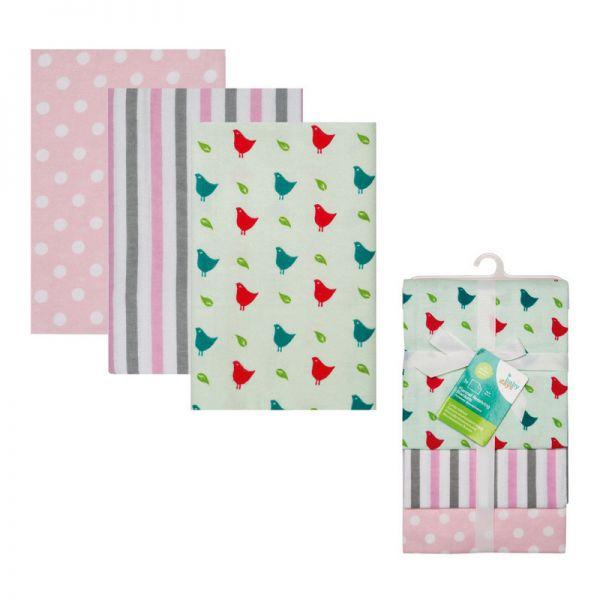 Комплект: Пелёнки Фланелевые 3 шт. bd10015/1 babydays