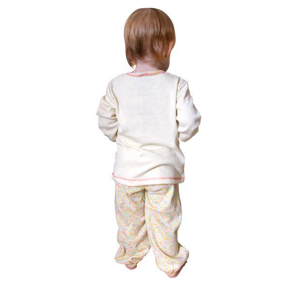 Пижама детская для девочек: кофточка и штанишки 12-400 Lucky child