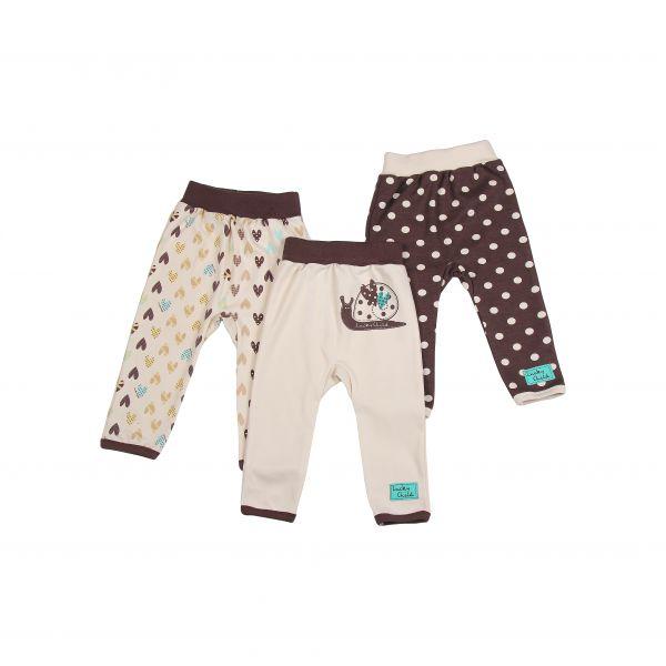 Комплект детский: штанишки 3 шт.'Улитки' 30-139 Lucky child