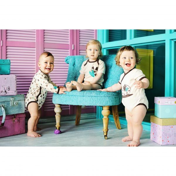 Комплект детский: 'Улитки' боди 3 шт 30-133 Lucky child