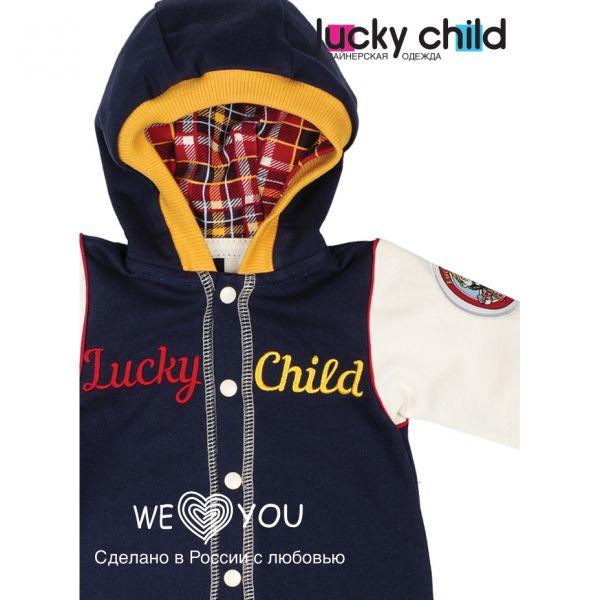 Комбинезон (футер) 'Мужички' 27-3ф Lucky child