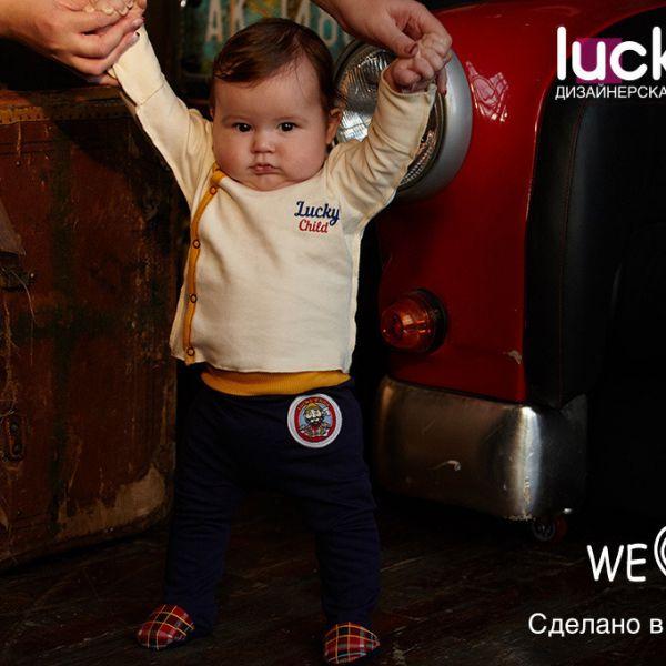 Ползунки (футер) 'Мужички' 27-4ф Lucky child
