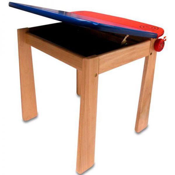 Стол для рисования синий с держателем для рулона бумаги и контейнером 42023/1 I'm toy