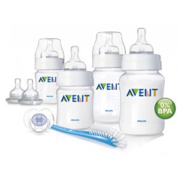 Набор для новорожденного Philips AVENT SCD271/00 4 бутылочки с сосками, ёршик, пустышка 86210-1 AVENT