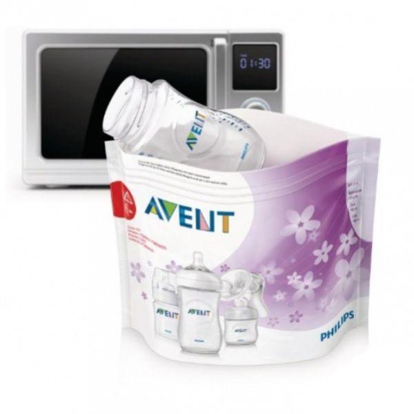 Пакеты для стерилизации в микроволновой печи Philips AVENT SCF297/05, 5шт. 82970 AVENT