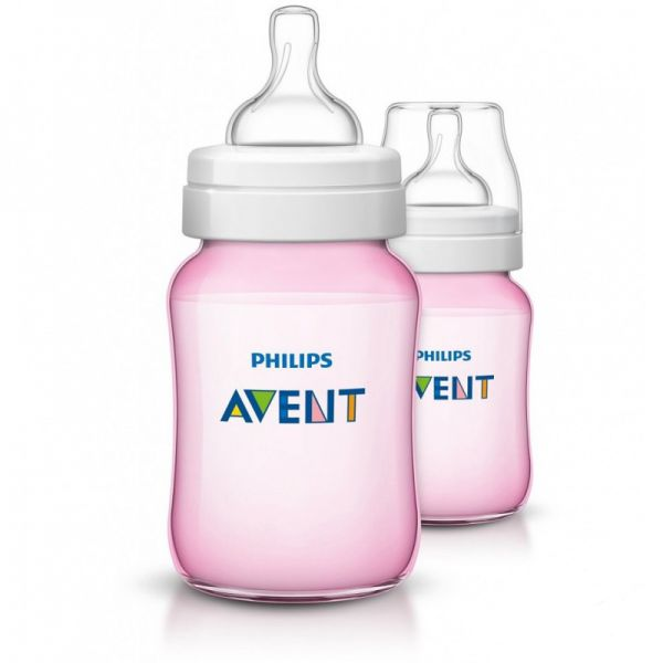 Бутылочки для кормления розовые Philips AVENT SCF564/27 серии Classic+, 2х260мл 80028 AVENT