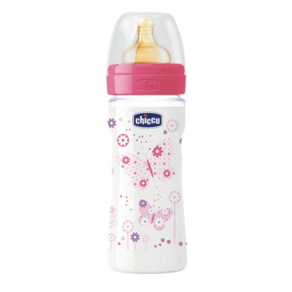 Бутылочка Chicco Girl, соска переменный поток, 250мл 310205006 Chicco