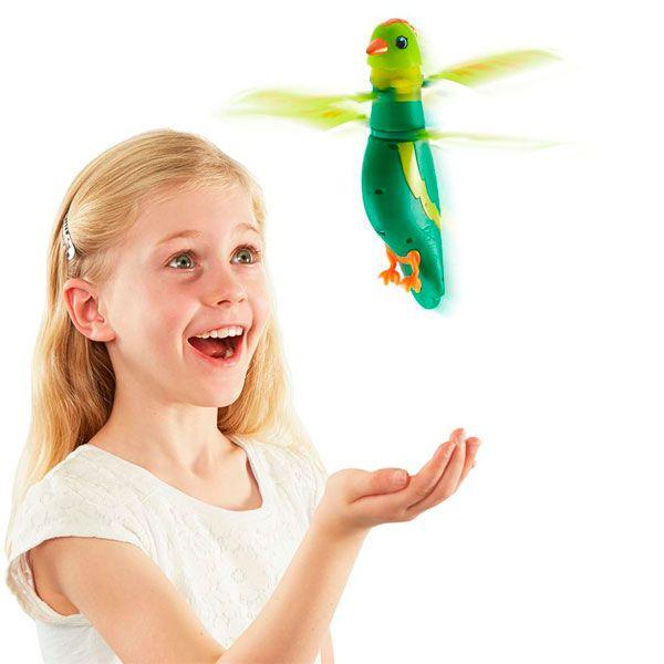 Zippi Pets 201505000 Зиппи Петс Интерактивная, летающая птичка (Зеленая) 201505000 Zippi Pets