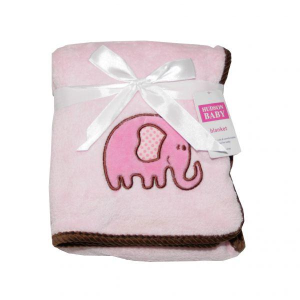 Плед с вышивкой 'Слонёнок' 50424/2 Hudson Baby