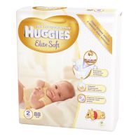 Подгузники Huggies Elite Soft 2, 4-7кг, 88шт.