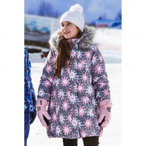 Куртка для девочки Reike Winter stars grey