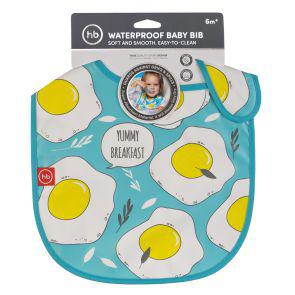 Нагрудник Happy Baby на липучке WATERPROOF BABY BIB Арт. 16009N Blue
