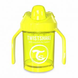 Поильник Twistshake Mini Cup. 230 мл. Жёлтый (Starlight). Возраст 4+m. Арт. 78056