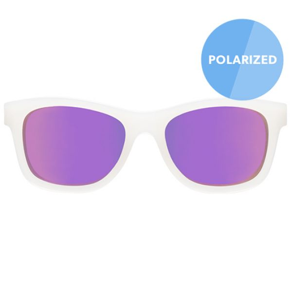 С/з очки Babiators Blue Series Polarized Navigator. Трендсеттер (The Trendsetter). Прозрачные. Фиолетовые линзы. Junior (0-2). BLU-012 Babiators